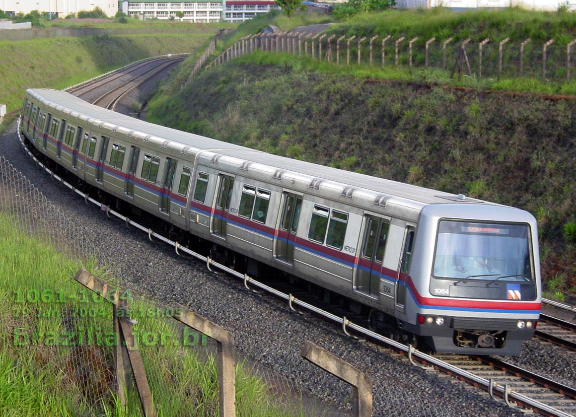 Trem 1061-1064 do Metrô de Brasília